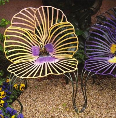 outdoor flower chairs by joy de rohan chabot for my backyard juxtapost. Black Bedroom Furniture Sets. Home Design Ideas