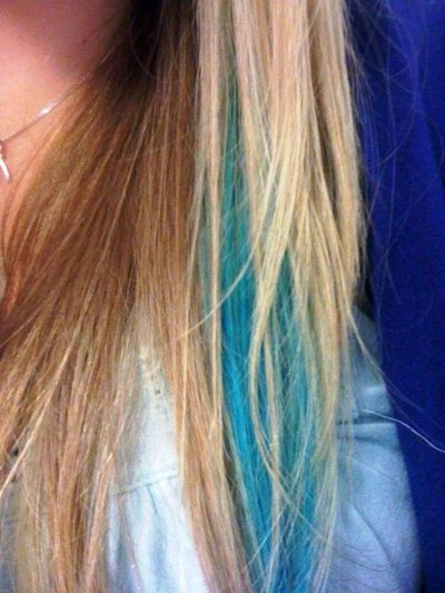 mermaid streakturquoise peekaboo hair tips juxtapost