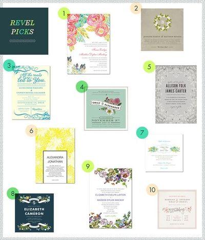 Modern Floral Invitations