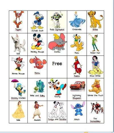 picture regarding Disney Bingo Printable titled Free of charge Disney Bingo printable towards Permits Converse Speech Thera