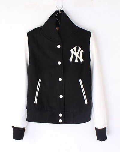 Womens NY Yankee Baseball jacket Black White We love this... / For ...