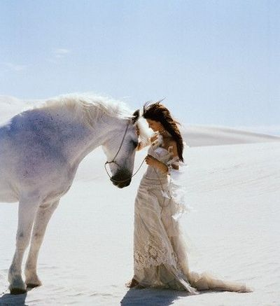 I would not mind riding off on a gorgeous horse after my wedding.
