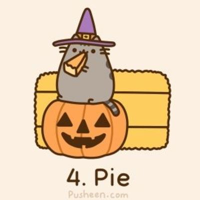 Pusheen The Cat Loves Pie Halloween Time Juxtapost