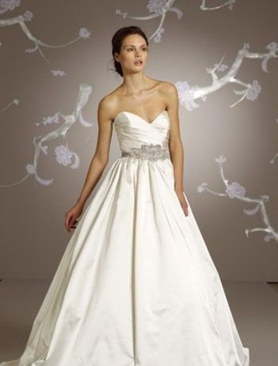 Bridal Gowns Lazaro A Line Wedding Dress With Sweetheart Neckline And Empire Waist Waistline