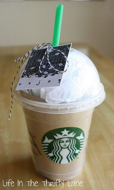 Starbuckscoffee Gift Card Packaging Idea Christmas Xmas