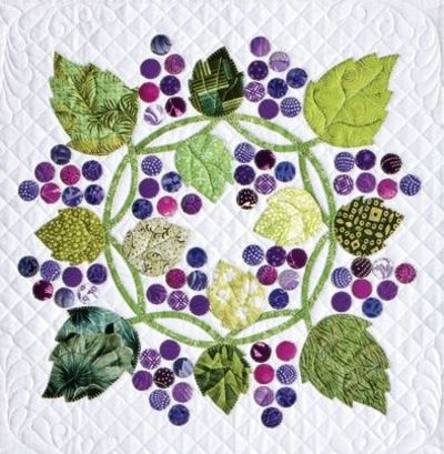 Free Pattern Grape Escape Block By Alex Anderson Quilting