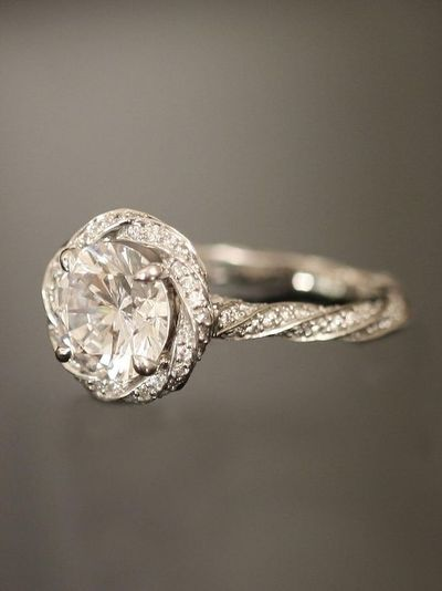 michael b twist shank engagement ring gorgeous