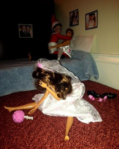 Elf On The Shelf Caught By Barbie Funny Stuff
