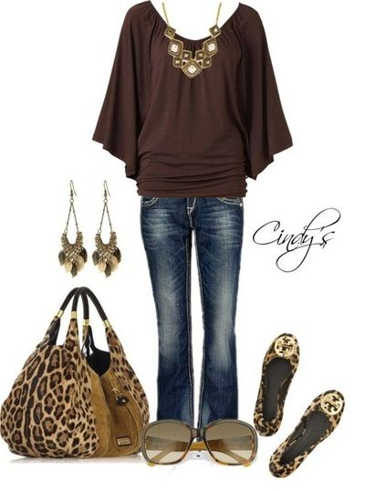 like everything except for the shoes and purse. I don't like animal print stuff