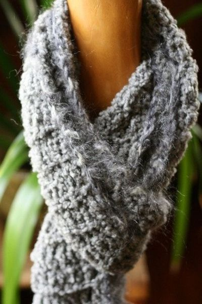 Super Soft Gray Scarf by crr29061 on Etsy, $42.00