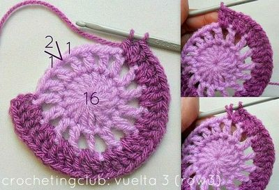 crochetingclub: Jan Eaton: willow granny square tutorial