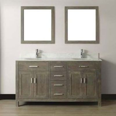 Guest Bath Studio Bathe Kalize 63 French Gray Double