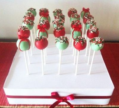 Cake Pop Decorating Christmas : Christmas Cake Pops in Stand / christmas xmas ideas ...