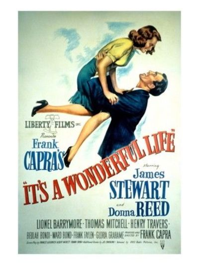 It's a Wonderful Life, Donna Reed, James Stewart, 1946 Premium Poster at Art.com