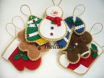 felt christmas ornaments handmade felt christmas by ynelcas 3500 via etsy - Handmade Felt Christmas Decorations