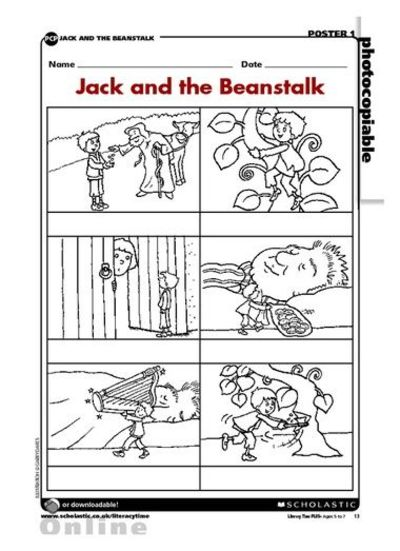 Jack And The Beanstalk Sequencing Preschool Items