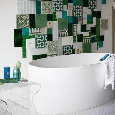wall tile mosaic sculpture