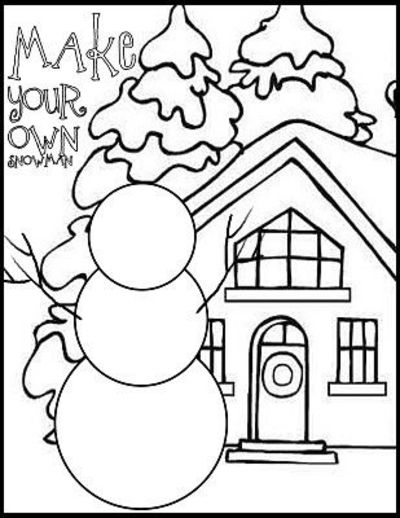 winter coloring pages kindergarten - photo#20