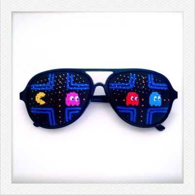 Retro Gaming Sunglasses With Painted Lenses