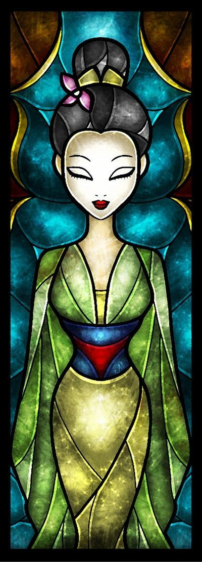 Mulan stained glass by mandie manzano wonderful world of for Websites similar to society6