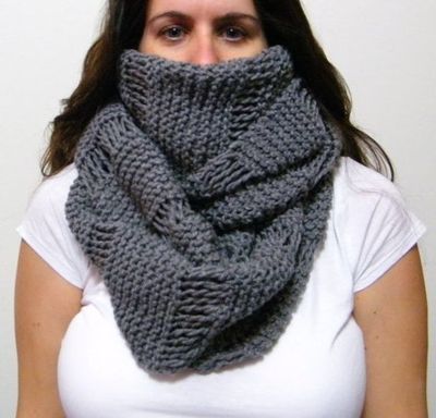 Knitted Infinity Scarf Pattern Images Handicraft Ideas Home Decorating