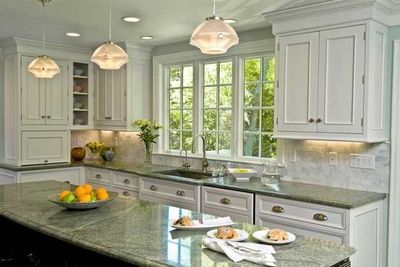 white kitchen with dark island. beautiful white kitchen with dark