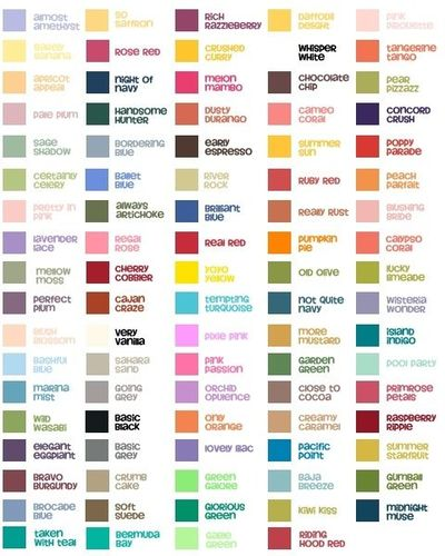 Stampin Up Color Chart Papercraft Juxtapost