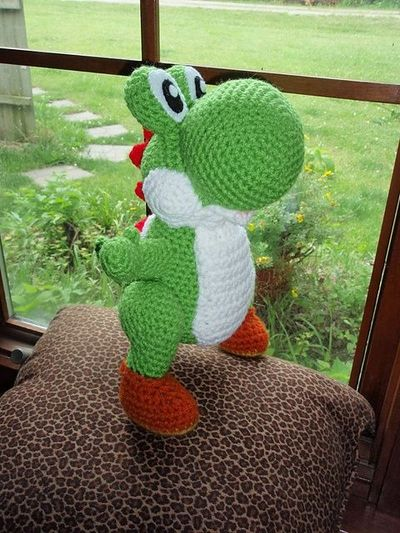Crochet Patterns Yoshi : Ravelry: Free Amigurumi Yoshi Pattern pattern by Trischa Mor... / For ...