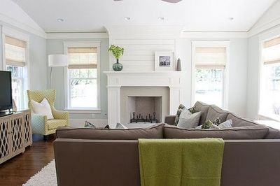 living room with fireplace and tv- layout