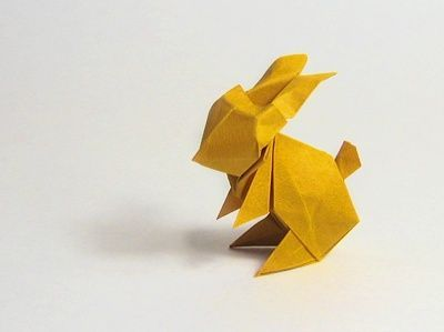 Make an origami Easter bunny   How About Orange