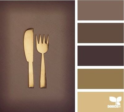 Gold Utensil Color Palette Modernthanksgiving