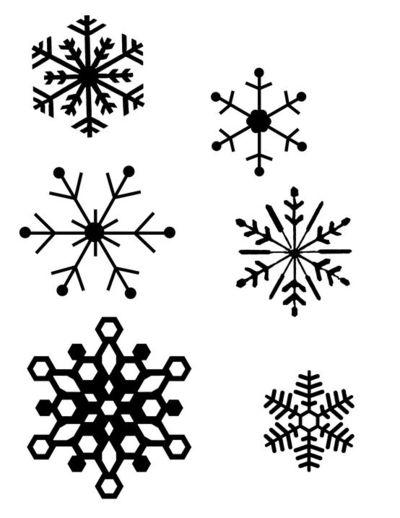 Snowflake Patterns for Hot Glue Gun Snowflakes