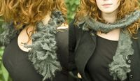 Sew a ruffled scarf (from old sweater!)