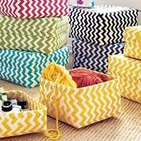 Chevron baskets from Land of Nod