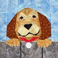 dog paper pieced block....somehow need to figure out how to make this an entire quilt :o)
