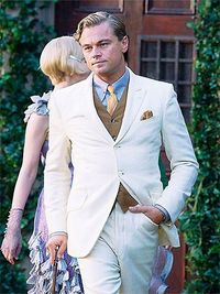 One the set of The Great Gatsby remake with Leo