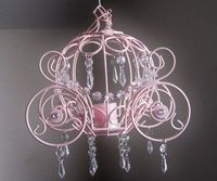 Cinderella Collection Coach One Candle Hanging Chandelier. $68.00, via Etsy.