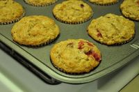 Whole wheat cranberry oatmeal muffins