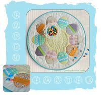 Awesome directions to make this cute little circular Easter table topper, from CountryMommaCooks.