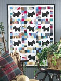 Scottie Dog Scrap Baby Quilt