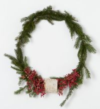 Pepperberry & Birch Wreath handmade for terrain by Philadelphia's Ryan Jane Co., with forest green spruce, snowy birch, and crimson pepperberries. #shopterrain #pinapresent #goodnaturedgifts