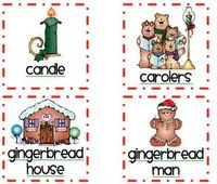 Christmas Word/Picture Labels