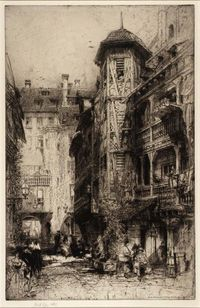 Cour de Corbeau by Hedley Fitton 1919