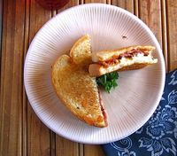 Barbecued Bacon-Blue Grilled Cheese | Miss in the Kitchen
