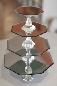 How to Make Mirrored Cake Stands
