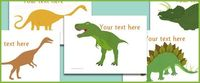 This file contains a set of 11 dinosaur pictures with editable text. Lot of great images here for use in creating resources.