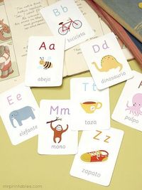 El alfabeto en Español - free printable Spanish alphabet flash cards