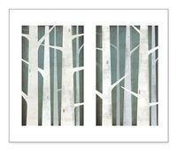 BIRCHES Diptych Canvas Wall Art 20x30 EACH by nativevermont, $399.00
