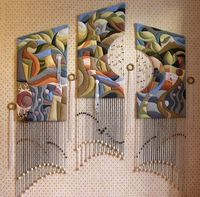 Quilted tapestries by George Hovsepian