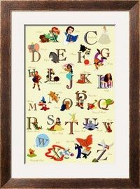 The Disney Alphabet Print at Art.com